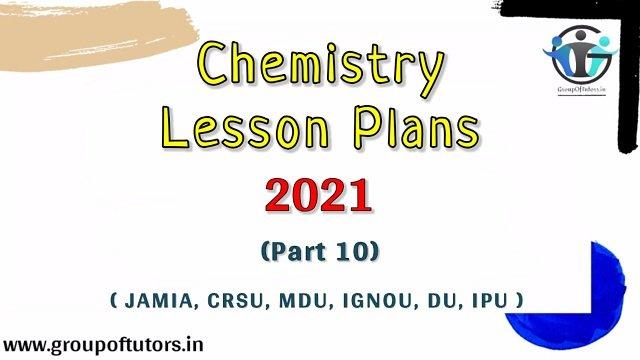 chemistry lesson plans b.ed