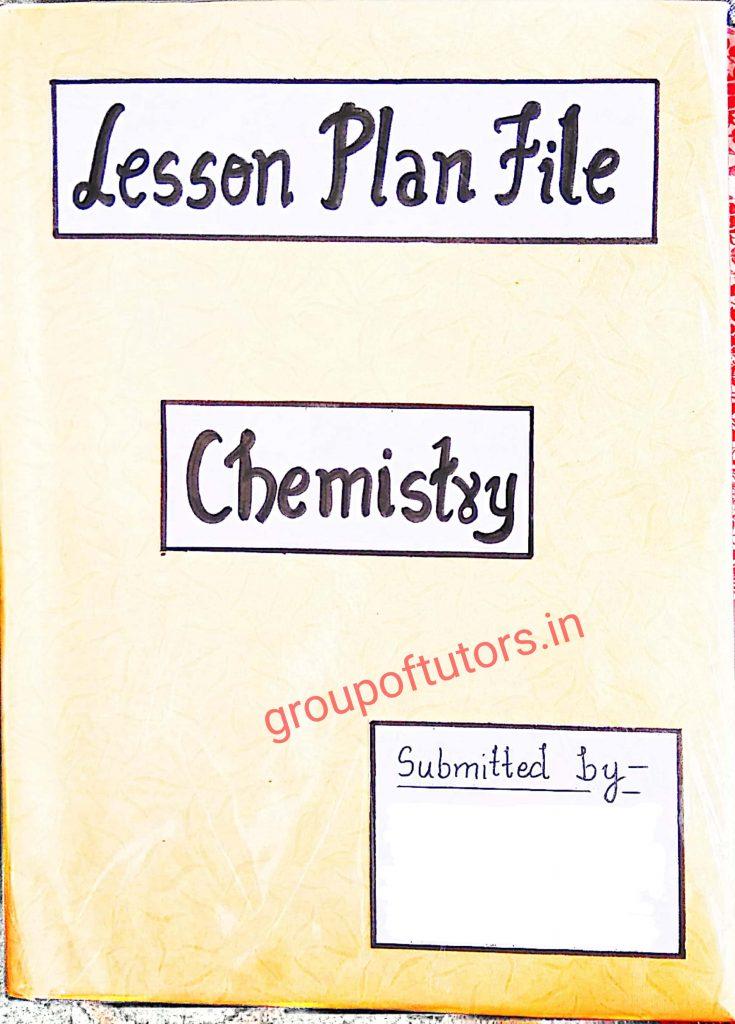 Chemistry Lesson Plans B.Ed 2021