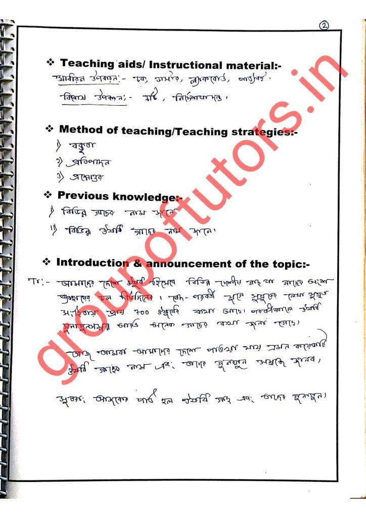 Bengali Lesson Plans
