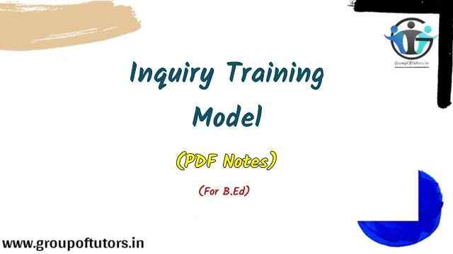 Inquiry Training Model Science