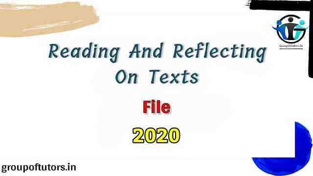 Reading and Reflecting On Texts File B.Ed