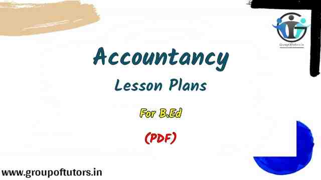Accountancy Lesson Plans