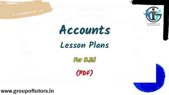 Accounts Lesson Plans