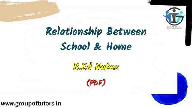 Relationship Between School and Home