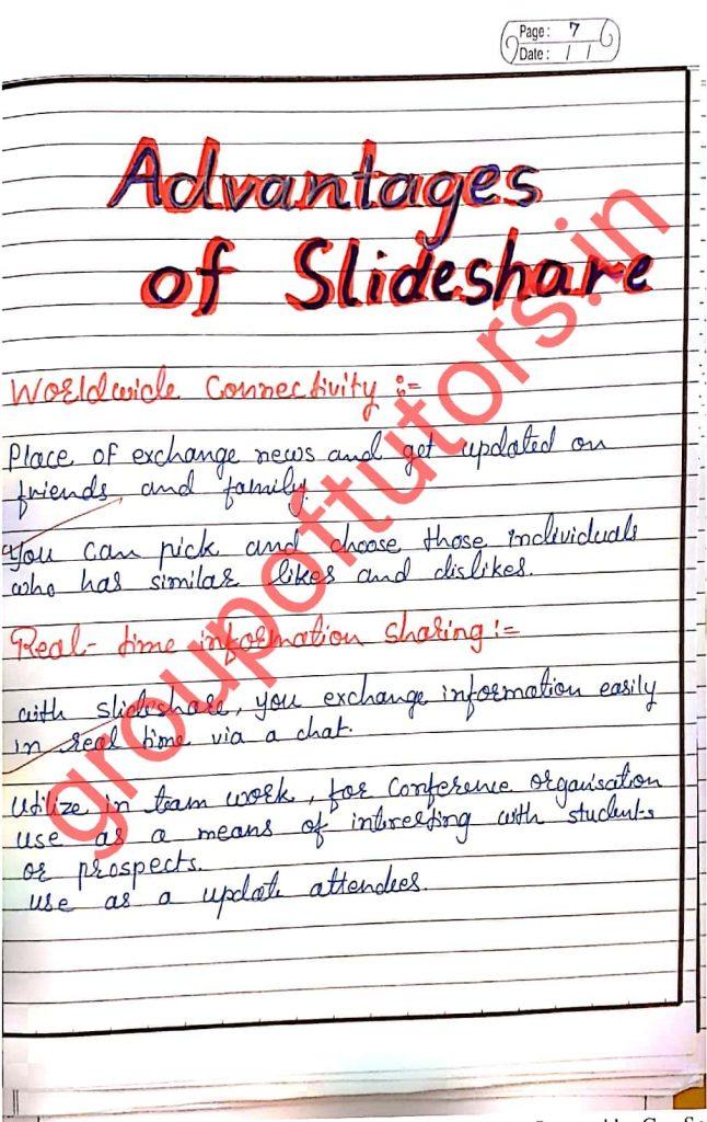 Advantages of Slideshare
