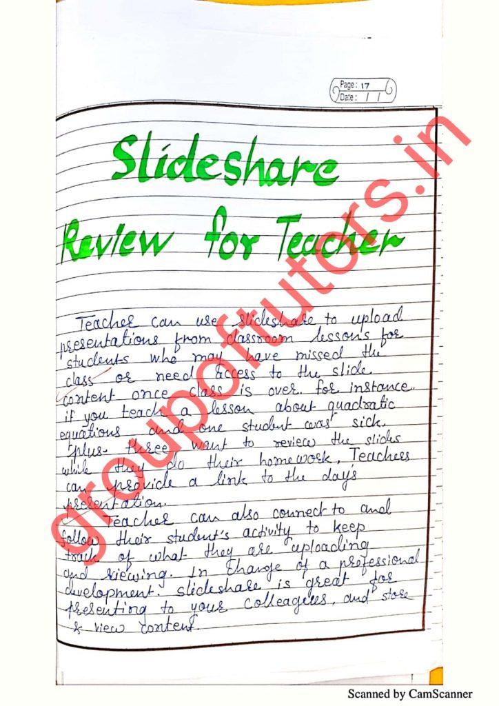 Slideshare review for teachers b.ed