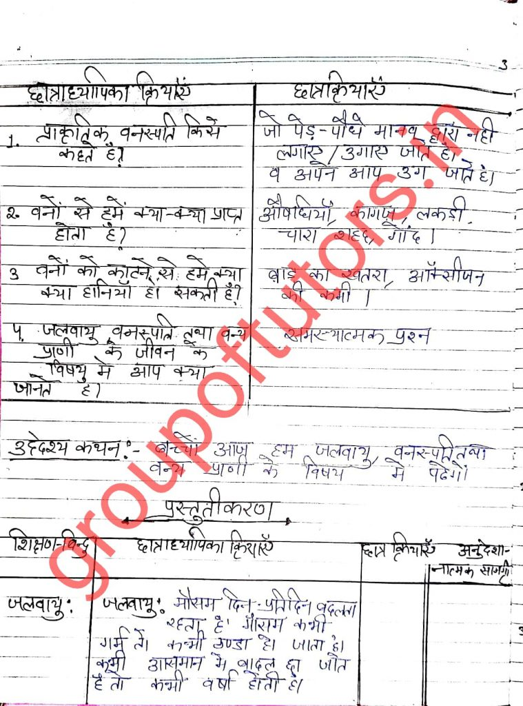 SST Lesson Plans in Hindi