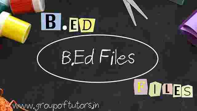 B.Ed Project Files and B.Ed Practical Files Group Of Tutors