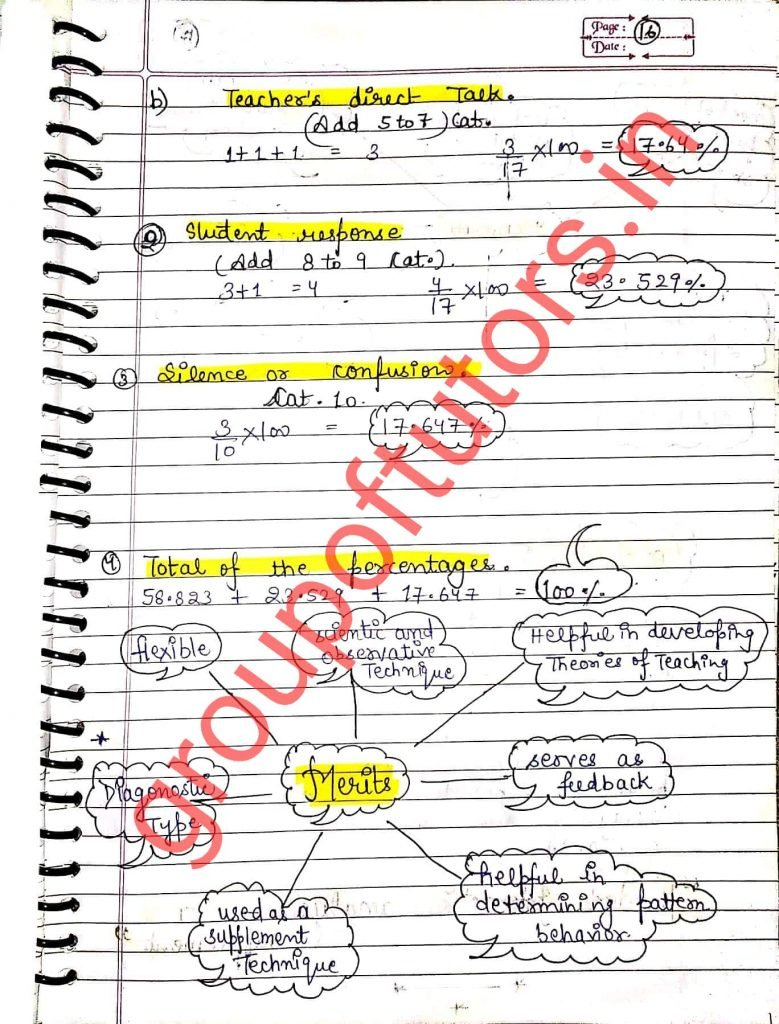 Merits of FIA Flanders Interaction Analysis Assignment Notes for B.Ed Group Of Tutors