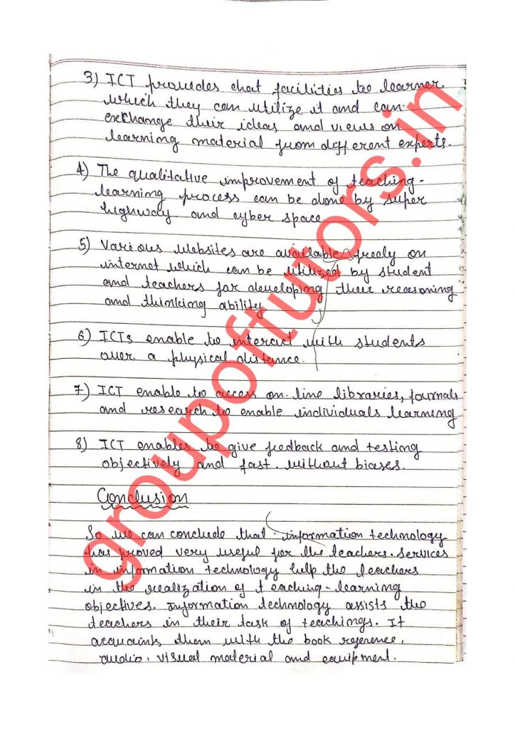 Learning and Teaching Notes for B.Ed Group Of Tutors groupoftutors.in/b.ednotes